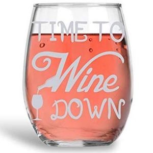 Other - Time To Wine Down - 15oz Crystal Clear